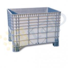 Caja de plástico con laterales y fondo lisos 550 litros