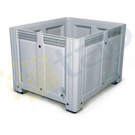 Caisse plastique parois fond pleins, 760 litres
