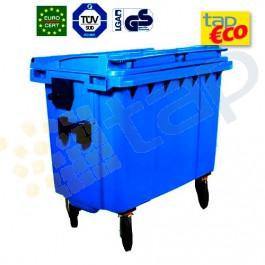Contenedor para residuos 4 ruedas 1000 L azul