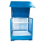 Caseta de almacenamiento 2 bidones con laterales enrejados