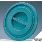 Tapa para cubeta de plástico redonda 100/120 L verde