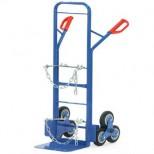 Carretilla para escaleras portabotellas - Carga 200 kg