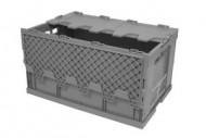 Cubeta de plástico plegable 60 litros con tapa