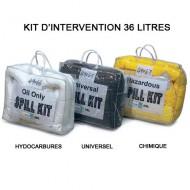 Kit de intervención 36 litros absorbente para hidrocarburos blanco