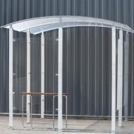 Estructura cubierta para fumadores para fijar de metal cincado