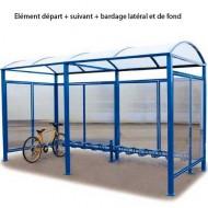 Estructura cubierta para bicicletas sin recubrimiento exterior