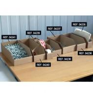 Cubeta con apertura Kangourou de cartón 2.3 litros