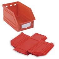 Cubeta con apertura Kangourou plegable de 0.9 litros roja
