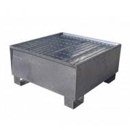 Cubeta colectora galvanizada para 1 bidón con enrejado Wireline®