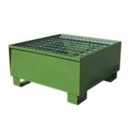 Cubeta colectora pintada verde para 1 bidón con enrejado Wireline®