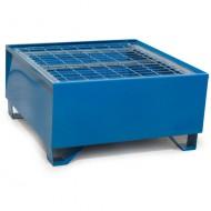 Cubeta colectora pintada azul para 1 bidón con enrejado Wireline®
