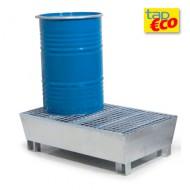 Cubeta colectora galvanizada para 2 bidones con enrejado Wireline®