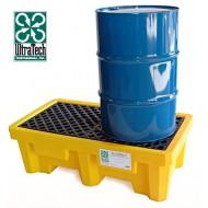 Cubeta colectora de PEAD para 2 bidones para cargas pesadas