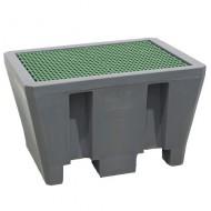 Cubeta colectora de PEAD para 1 bidón con enrejado de PEAD