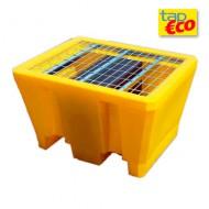 Cubeta colectora en PEAD para 1 bidón con enrejado Wireline®