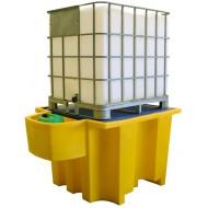Cubeta colectora para GRG/IBC con soporte para bidones integrado