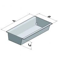 Cubeta colectora galvanizada sobre largueros 1000 L con enrejado