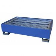 Cubeta colectora pintada azul para 2 bidones con enrejado Wireline®
