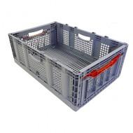 Cubeta de plástico calada plegable 60 litros sin tapa