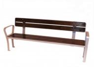 Banco reforzado de lamina de madera