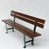 Banco 3 tablas de plástico reciclado