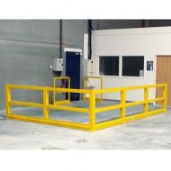 Barrera de protección flexible - Kit adicional con poste de ángulo 1000 mm