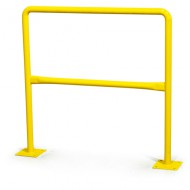 Barrera de seguridad pintada - Long: 1.5 m,  Ø: 60 mm