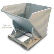 Volquete de vuelco manual galvanizado, 1000 litros