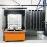 Caseta de almacenamiento para 1 GRG/IBC galvanizado