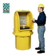 Caseta de almacenamiento de PEAD para 1 bidón de PEAD