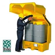 Caseta de almacenamiento de PEAD para 2 bidones