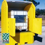 Caseta de almacenamiento de PEAD para 1 GRG/IBC