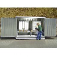 Caseta de almacenamiento para 2 GRG/IBC galvanizada