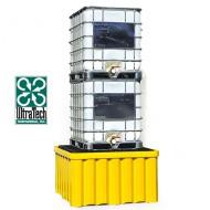 Cubeta colectora reforzada de PEAD para 2 GRG/IBC
