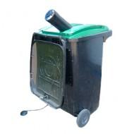 Trituradora de botella de vidrio para contenedor para residuos de 240 litros