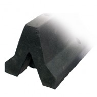 Tope de seguridad para colocar en el suelo. Tope gran altura de goma negra