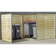Protección para contenedores doble con borde de madera trenzada