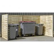 Protección para contenedores doble de madera trenzada