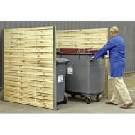 Protección para contenedores simple de madera trenzada