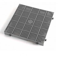 Enrejado gris superficie calada - Lote de 10 piezas