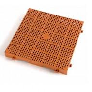 Enrejado rojo teja superficie calada - Lote de 10 piezas