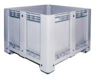 Caja de plástico con laterales y fondo lisos 610 litros