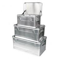 Lote de 3 contenedores de aluminio con asas laterales