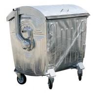 Contenedor para residuos 4 ruedas 1100 litros con tapa de acero