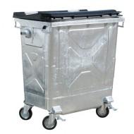 Contenedor para residuos 770 litros con tapa de plástico