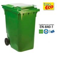 Contenedor para residuos 2 ruedas 360 L verde