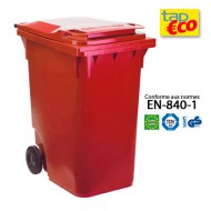 Contenedor para residuos 2 ruedas rojo
