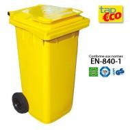 Contenedor para residuos 360 L amarillo