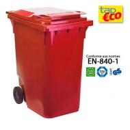 Contenedor para residuos 2 ruedas 360 litros rojo