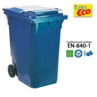 Contenedor para residuos 2 ruedas 360 L azul